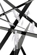 Stock Illustration of businesspeople abstract concept