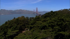 Aerial San Francisco USA California Golden Gate Bridge Stock Footage