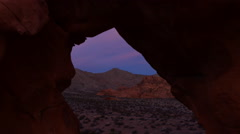 Motion Control Dolly Time Lapse of Arch Rock at Sunrise -Zoom Out- - stock footage