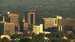Aerial USA San Jose California Downtown city buildings Silicon Valley Stock Footage