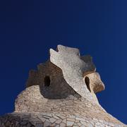Gaudi chimneys, barcelona Stock Photos