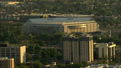 Aerial USA San Jose California Silicon Valley Technology travel Stock Footage