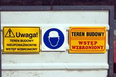 Cautionary signs - stock photo