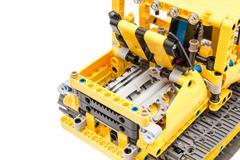 Lego Technic Engine Pistons Closeup - stock photo