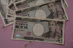 Japanese yen notes. Currency of Japan - stock photo