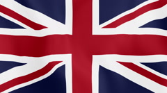 Loopable: Flag of Great Britain Stock Footage