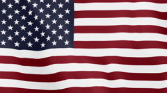 Loopable: Flag of United States - stock footage