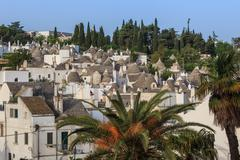 alberobello's trulli. puglia. italy - stock photo
