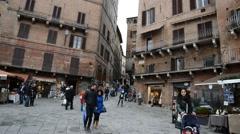 People walking  in Siena  Stock Footage