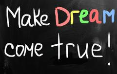 Stock Illustration of Make your dream come true