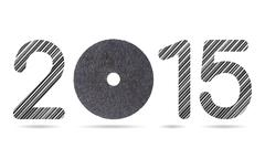 2015 numeric from stainless steel rod and cutting wheel Stock Illustration
