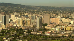 Aerial Oakland Federal Building California USA Alameda Downtown Stock Footage