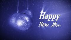 Happy new year background ball Stock Footage