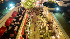 4K Time Lapse of Shopping Mall in Holidays -Close Up- - stock footage
