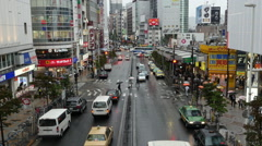 Time Lapse - View of Traffic on Busy Boulevard from Above - Tokyo Japan Stock Footage
