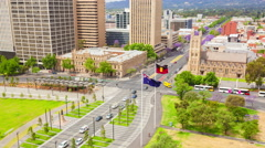 4k timelapse video of the downtown area in Adelaide, Australia Stock Footage