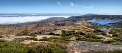 sea fog in serra da estrela - stock photo