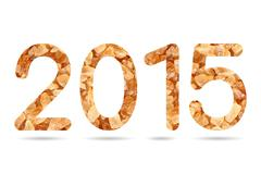2015 numeric from natural rock sugar Stock Illustration