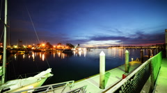 Time Lapse of Twilight Harbor in Marina Del Ray Stock Footage