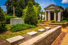 Graves and mausoleum at oakland cemetary in atlanta, georgia. Stock Photos