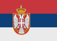 Stock Illustration of serbia flag