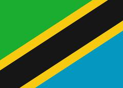 Tanzania flag Stock Illustration