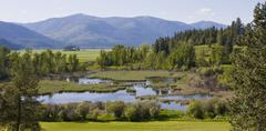 Paradise Valley Bonners Ferry North Idaho - stock photo