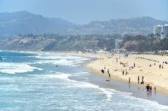 Santa Monica Beach, Los Angeles, California, USA. - stock photo