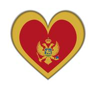 Montenegro heart flag Stock Illustration