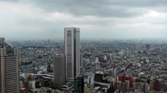 Time Lapse of Tokyo Skyline with Rain Clouds - Daytime Stock Footage