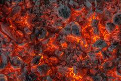 incandescent embers. - stock photo