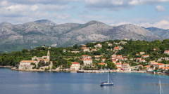 Croatian Island Idyllic View Stock Footage