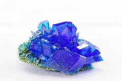 Crystals of blue vitriol - Copper sulfate - stock photo