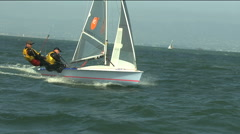 USA Sailboat boat Regatta Yachting Racing Dingy Stock Footage
