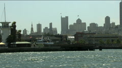 USA San Francisco Pacific ocean Fishermans Wharf - stock footage