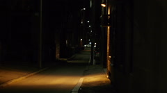 City Alleyway Boston Stock Footage