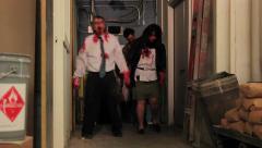 Zombies Hallway 1 Stock Footage