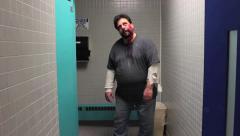 Zombie Restroom 1 - stock footage
