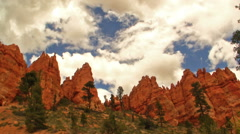 Time Lapse of Cloudscape over Hoodoo Formation in Bryce Canyon Stock Footage