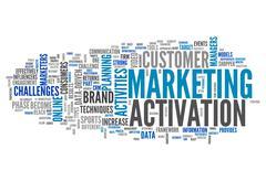 Word cloud marketing activation Stock Illustration