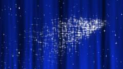 Starry Tapestry Blue Loop - stock footage