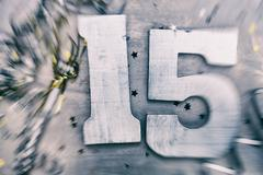"Stock Photo of nye: motion blur on ""15"" for new year's 2015"