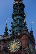 Gdansk City hall at night - stock photo