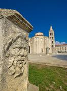 Zadar old roman square artefacts Stock Photos