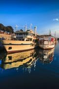 boat anchor in old rustic mediterean city zadar in croatia - stock photo