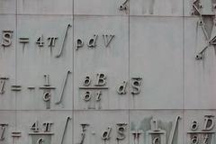 Mathematical formula on a facade of a building in Warsaw, Stock Photos