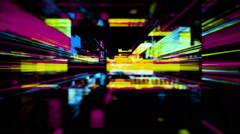 A Maze of Flickering Light, Data Storm 0515 - HD Stock Footage