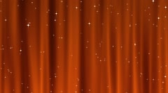 Starry Tapestry Orange Loop Stock Footage