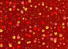 Many multicolored small hearts backgrounds Stock Illustration