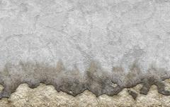 old white dyed plastered crumble texture of aged wall - stock illustration